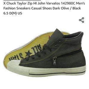 John Varvatos/Converse Hi-Top W/ Zipper Size 9